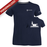 Ladies Russell Navy Essential T Shirt-Programs Division