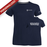 Ladies Russell Navy Essential T Shirt-Information Technology