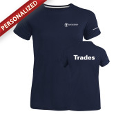 Ladies Russell Navy Essential T Shirt-Trades