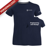 Ladies Russell Navy Essential T Shirt-Engineering and Design