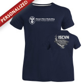 Ladies Russell Navy Essential T Shirt-ISCVN