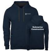Contemporary Sofspun Navy Heather Hoodie-Submarine Construction