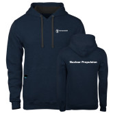 Contemporary Sofspun Navy Heather Hoodie-Nuclear Propulsion