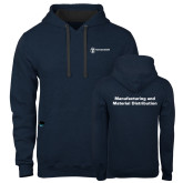 Contemporary Sofspun Navy Heather Hoodie-Manufacturing and Material Distribution