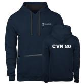 Contemporary Sofspun Navy Heather Hoodie-CVN 80 and 81