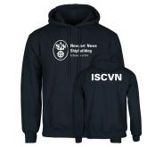 Navy Fleece Hoodie-ISCVN