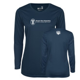Ladies Syntrel Performance Navy Longsleeve Shirt-HR and A