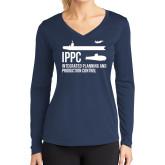 Ladies Syntrel Performance Navy Longsleeve Shirt-IPPC
