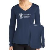 Ladies Syntrel Performance Navy Longsleeve Shirt-Strategic Sourcing