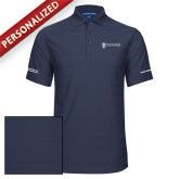 Indigo Blue Horizontal Textured Polo-Manufacturing and Material Distribution
