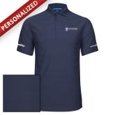 Indigo Blue Horizontal Textured Polo-Quality