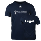 Adidas Navy Logo T Shirt-Legal