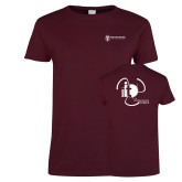 Ladies Maroon T Shirt-NNS IT