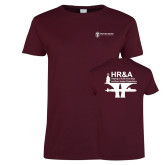 Ladies Maroon T Shirt-HR and A