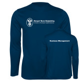Performance Navy Longsleeve Shirt-Business Management