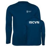 Performance Navy Longsleeve Shirt-ISCVN