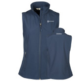 Ladies Core Navy Softshell Vest-Manufacturing and Material Distribution
