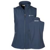 Ladies Core Navy Softshell Vest-CVN 80 and 81