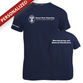 Russell Navy Essential T Shirt-Manufacturing and Material Distribution
