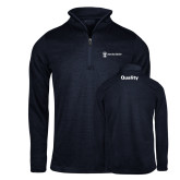 Russell Navy Heather 1/4 Zip-Quality