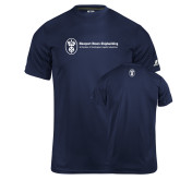 Russell Core Performance Navy Tee-Newport News Shipbuilding