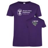 Ladies Purple T Shirt-ISCVN