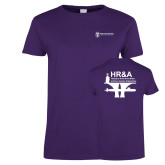 Ladies Purple T Shirt-HR and A