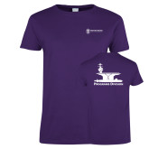 Ladies Purple T Shirt-Programs Division