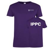 Ladies Purple T Shirt-IPPC