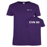 Ladies Purple T Shirt-CVN 80 and 81