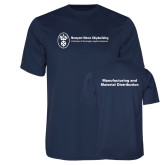 Performance Navy Tee-Manufacturing and Material Distribution