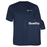 Performance Navy Tee-Quality