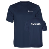 Performance Navy Tee-CVN 80 and 81