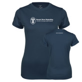 Ladies Syntrel Performance Navy Tee-Business Management