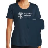 Ladies Syntrel Performance Navy Tee-Strategic Sourcing