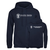 Russell DriPower Navy Fleece Hoodie-Business Management