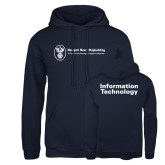 Russell DriPower Navy Fleece Hoodie-Information Technology