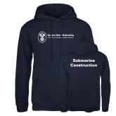 Russell DriPower Navy Fleece Hoodie-Submarine Construction