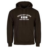 Brown Fleece Hoodie-NNS College Design