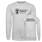 White Long Sleeve T Shirt-Submarine Construction