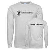 White Long Sleeve T Shirt-Nuclear Propulsion