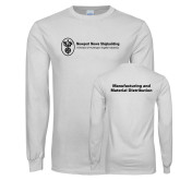 White Long Sleeve T Shirt-Manufacturing and Material Distribution