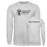 White Long Sleeve T Shirt-Navy Programs