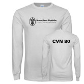 White Long Sleeve T Shirt-CVN 80 and 81