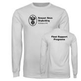 White Long Sleeve T Shirt-Fleet Support Programs