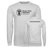 White Long Sleeve T Shirt-Comms