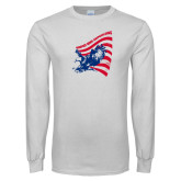 White Long Sleeve T Shirt-NNS Flag