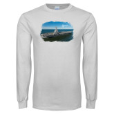 White Long Sleeve T Shirt-NNS Design 3