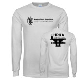 White Long Sleeve T Shirt-HR & A
