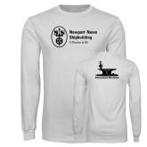 White Long Sleeve T Shirt-Programs Division